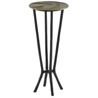 Thatcher 11 inch Black and Antique Gold Drink Table