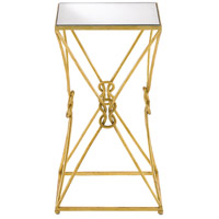 Ariadne 14 inch Contemporary Gold Leaf and Antique Mirror Side Table Home Decor