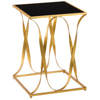 Sabine 18 inch Grecian Gold Leaf and Black Side Table Home Decor