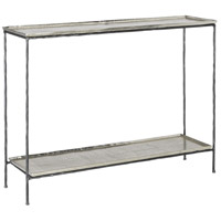 Boyles 42 inch Black and Silver Console Table Home Decor