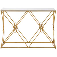 Ariadne 48 inch Contemporary Gold Leaf and Antique Mirror Console Table Home Decor