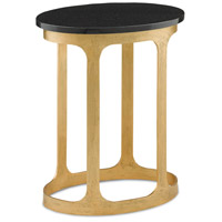 Inola 24 X 14 inch Antique Gold and Black Side Table