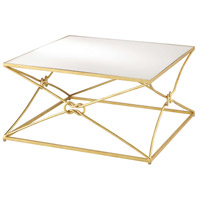 Ariadne 36 X 18 inch Contemporary Gold Leaf and Antique Mirror Cocktail Table