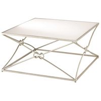 Ariadne 36 X 18 inch Contemporary Silver Leaf and Antique Mirror Cocktail Table