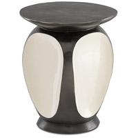 Currey & Company 4000-0058 Malmo 16 inch Graphite and Ivory Accent Table