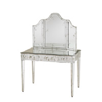 Currey & Company Gilda Vanity Mirror in Silver/ Antique Mirror 1300