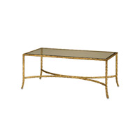 Currey & Company 4057 Gilt Twist 21 inch Gilt Bronze Coffee Table photo thumbnail
