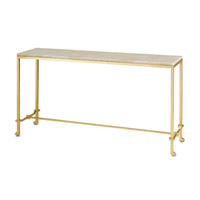 Delano 62 inch Contemporary Gold Leaf Console Table
