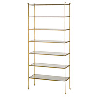Currey & Company 4132 Delano 91 X 41 X 16 inch Contemporary Gold Leaf Shelf