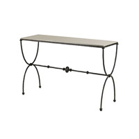 Currey & Company 4142 Agora 49 inch Rustic Bronze and Polished Console Table