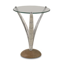 Currey & Company Anna Occasional Table in Nickel and Natural 4156