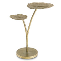 Utopia 13 inch Antique Gold Side Table