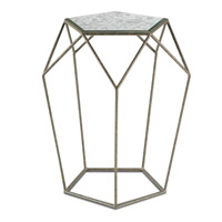 Axiom 19 inch Mayfair and Antique Mirror Drinks Table Home Decor