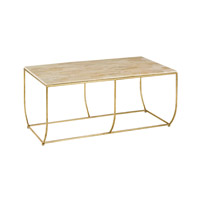 Currey & Company Wimberly Coffee Table in Contemporary Gold Leaf and Natural 4175