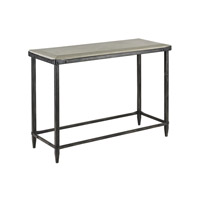 Currey & Company Elemental Console Table in Aged Steel and Polished Concrete 4183