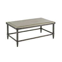 Currey & Company Elemental Coffee Table in Aged Steel and Polished Concrete 4184