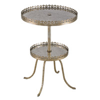 Currey & Company Bellevue Accent Table in Silver Leaf 4187