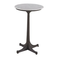 Currey & Company Belrose Accent Table in Bronze and White 4190