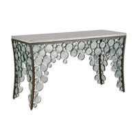 Currey & Company Fiona Console Table in Bronze and Polished Concrete 4191