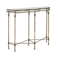Currey & Company Emmeline Console Table in Raj Gold and Gold Leaf Reverse Painted 4192