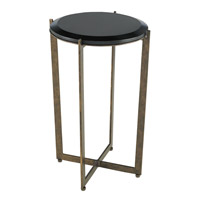 Currey & Company Galbi Drinks Table in Cupertino and Black 4194