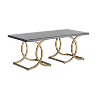 Currey & Company Kendall Cocktail Table in New Pyrite Bronze and Black 4195