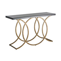 Currey & Company Kendall Console Table in New Pyrite Bronze and Black 4196