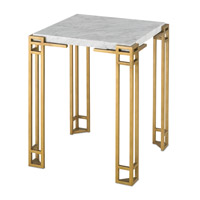 Currey & Company Zhin Accent Table in Contemporary Gold and Natural 4198