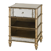 Currey & Company Harlow Side Table in Antique Mirror/Silver Leaf 4214