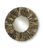 Currey & Company Leeward Mirror in Natural Wood/Mirror 4343