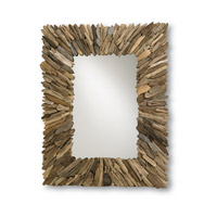 Currey & Company Beachhead Mirror in Natural Wood/Mirror 4344 photo thumbnail
