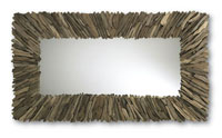 Currey & Company Beachhead Mirror in Wood/ Mirror 4349