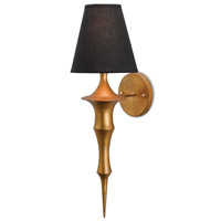 Currey & Company 5000-0012 Canto 1 Light 5 inch Dark Antique Gold Leaf Wall Sconce Wall Light