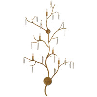 Forest Light 5 Light 30 inch Washed Lucerne Gold / Natural Wall Sconce Wall Light