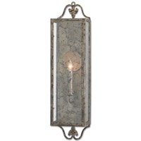 Currey & Company 5000-0018 Wolverton 1 Light 6 inch Viejo Silver Wall Sconce Wall Light