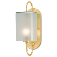 Glacier 1 Light 6 inch Contemporary Gold Leaf Wall Sconce Wall Light