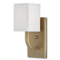 Currey & Company 5000-0022 Sadler 1 Light 5 inch Antique Brass Wall Sconce Wall Light