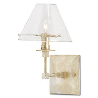 Kira 1 Light 7 inch Silver Leaf Wall Sconce Wall Light