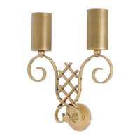 Wagner 2 Light 16 inch Antique Brass Wall Sconce Wall Light