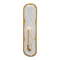 Weslyn 1 Light 5 inch Gesso White and Contemporary Gold Leaf Wall Sconce Wall Light