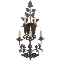 Willow 5 Light 13 inch Antique Bronze Wall Sconce Wall Light