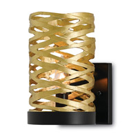 Chant 1 Light 6 inch Satin Brass and Black Wall Sconce Wall Light