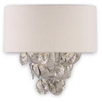 Capri 1 Light 10 inch Contemporary Silver Leaf Wall Sconce Wall Light