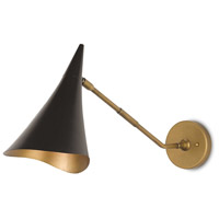 Library 1 Light 8 inch Oil Rubbed Bronze and Antique Brass Wall Sconce Wall Light