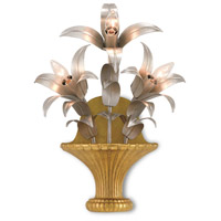 Carmen 3 Light 15 inch Contemporary Gold and Silver Leaf Wall Sconce Wall Light