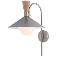 Currey & Company 5000-0122 Beaufort 17 inch 60 watt Brushed Nickel/Natural Swing Arm Wall Sconce Wall Light Barry Goralnick Collection