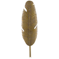 Currey & Company 5000-0127 Tropical Leaf 1 Light 8 inch Vintage Brass Wall Sconce Wall Light