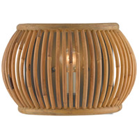 Currey & Company 5000-0135 Africa 1 Light 13 inch Hiroshi Gray/Natural Wall Sconce Wall Light