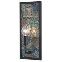 Currey & Company 5000-0136 Marjon 1 Light 6 inch London Black/Iridescent Wall Sconce Wall Light