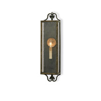 Currey & Company Wolverton 1 Light Wall Sconce in Bronze Verdigris 5030